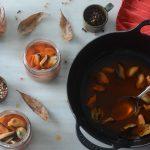 cazuela con escabeche de mejillones