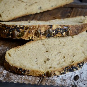 miga de pan blanco