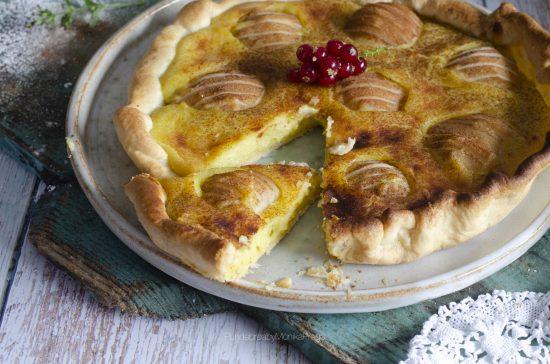 tarta alsaciana de peras
